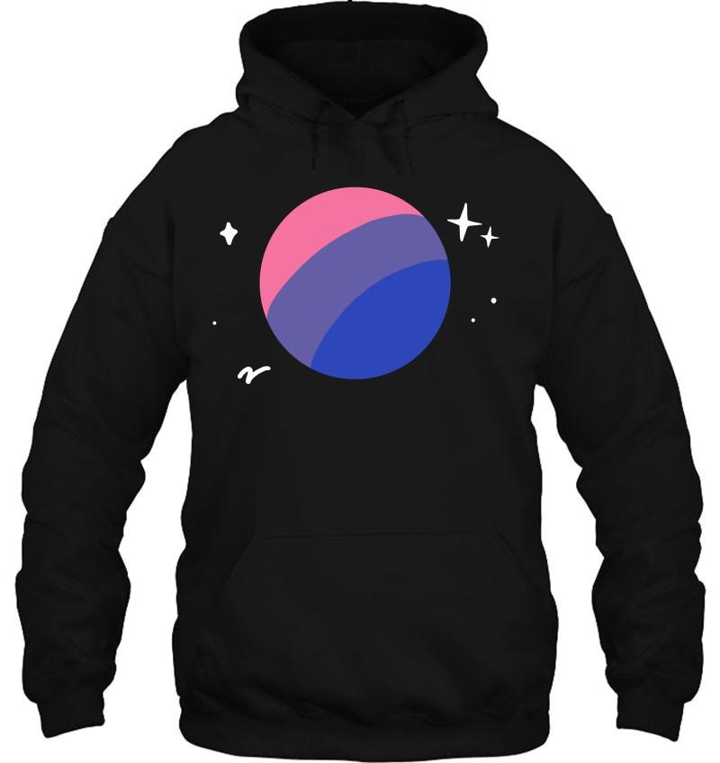 Bisexual Planet Lgbtq Bi Pride Flag Aesthetic Space
